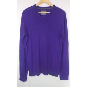 Aeropostale Men's Vneck Purple long sleeve Sweater